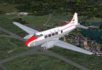 Screenshot of LTU DeHavilland DH104 Dove in flight.