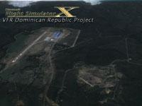 Aerial view of La Isabela International Airport.