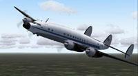 Screenshot of Lanzair Lockheed L-749 in the air.