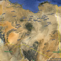 Overview of Libya Airfields.