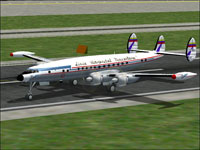 Screenshot of Linea Aeropostal Venezolana L-1049 on ruwnay.