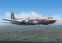 Screenshot of Linee Aeree Italiane Douglas DC-6 in flight.