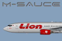 Profile view of Lion Air Boeing 737-800W.