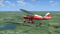 Screenshot of Lionheart Tri-Pacer G-ARYH in flight.