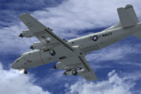 Screenshot of Lockhed P-3C Orion in flight.
