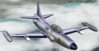 Screenshot of Lockheed F-94C Starfire in flight.
