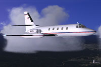 Screenshot of Lockheed Jetstar I in flight.