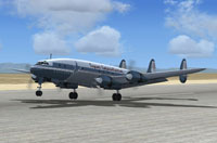 Screenshot of Lockheed L-1049 Prototype on runway.