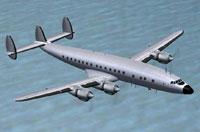 Screenshot of blank Lockheed L-1049 textures.