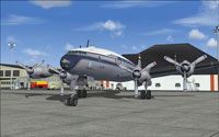 Screenshot of Lockheed L-749 Constellation on the ground.