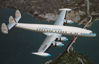 Screenshot of Lockheed L1049 Constellation in California Eastern livery.