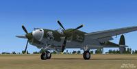 Screenshot of Lockheed P-38 on the ground.