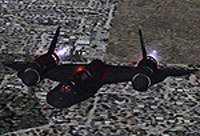Screenshot of Lockheed SR-71 Blackbird in flight.