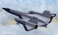 Screenshot of Lockheed YF-12 Blackbird in flight.