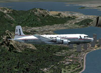 Screenshot of Loide Aereo Douglas DC-6A in flight.