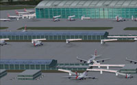 Screenshot of London Heathrow Terminal 5 scenery.