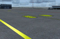 Screenshot of Los Llanos Albacete Airport, with corrected shadows.