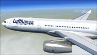 Screenshot of Lufthansa Airbus A330-300 in flight.