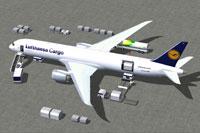 Screenshot of Lufthansa Cargo Boeing 787-9 Cargo and ground services.