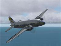 Screenshot of Lufthansa Cargo Vickers Viking in flight.