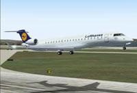Screenshot of Lufthansa Cityline CRJ700-ER taking off from EDDF.