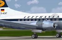 Lufthansa Convair CV-440 engine with correct textures.