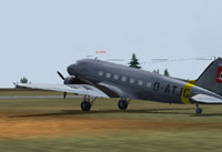 Screenshot of Lufthansa Douglas DC-3 on the ground.