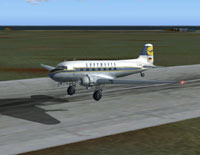 Screenshot of Lufthansa Douglas DC-3 taking off.