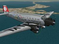 Screenshot of Lufthansa Junkers Ju-52/3m in flight.