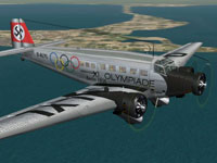 Screenshot of Lufthansa Junkers Ju-52/3m in flight.