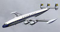 Screenshot of Lufthansa Lockheed L-1049G in flight.