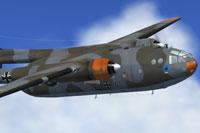 Screenshot of Luftwaffe Nord-2501 D Noratlas in flight.