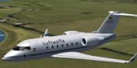 Screenshot of Luftwaffe Bombardier CL-604 in flight.