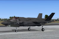 Screenshot of Luke AFB Lockheed-Martin F-35A on runway.
