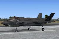 Screenshot of Luke AFB Lockheed-Martin F-35A on runway.