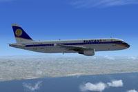 Screenshot of Lusitaniair Airlines Airbus A320 in flight.