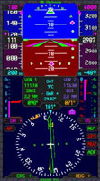 Image of M1000A primary flight display panel.