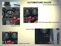 Complied images of DC-3 gauges and selectors.