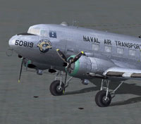 Screenshot of MAAM-SIM R4D/DC-3 on the ground.