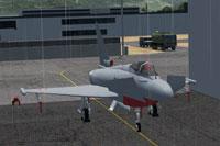 Screenshot of MAIW Austrian AF Eurofighter in the hangar.
