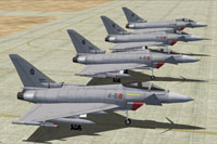Screenshot of MAIW Italian AF Eurofighter fleet on the ground.