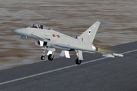 Screenshot of MAIW RAF Coningsby Eurofighter taking off.