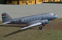 Screenshot of MALEV Lisunov Li-2 on the ground.