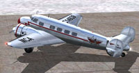 Screenshot of MCA Lockheed L-10A Electra on the ground.