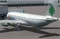 Screenshot of MEA Airbus A330-200 at the gate.