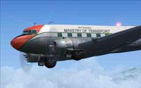 Screenshot of Ministry Of Transport, Douglas DC-3 in flight.