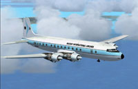 Screenshot of Mackey Airlines Douglas DC-6B in flight.