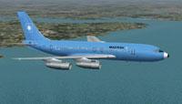 Screenshot of Maersk Air Boeing 720-051B in flight.