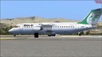Screenshot of Mahan Air BAe 146 on the ground.