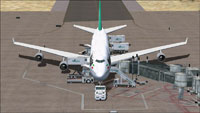 Screenshot of Mahan Air Boeing 747-400 and ground services.